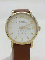 クォーツ腕時計/アナログ/レザー/WHT/CML/型番MBM1316