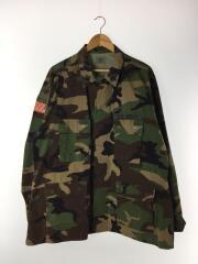 ミリタリージャケット/XL/コットン/カーキ/カモフラ