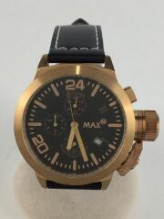 マックス/クォーツ腕時計/アナログ/BLK/BLK