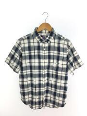 半袖シャツ/M/コットン/BLU/チェック/NT3516N