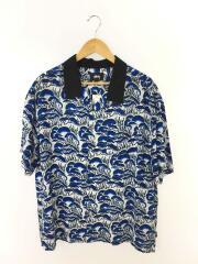 半袖シャツ/XL/レーヨン/BLU/総柄/Coral Pattern Shirt