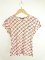 Tシャツ/38/コットン/PNK/チェック