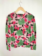 JERRIE ROSE PRINTED SWEATER/スウェット/XS/レーヨン/ピンク/花柄
