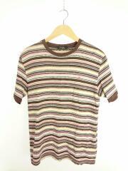 Tシャツ/L/コットン/BRW/ボーダー