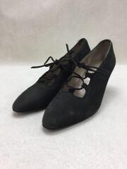 shoe lace pumps/パンプス/UK6.5/ブラック/レザー