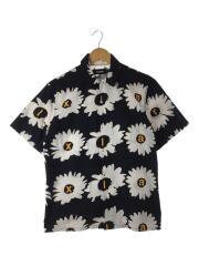 DAISY S/S SHIRT/101202014018/半袖シャツ/S/コットン/ブラック/花柄