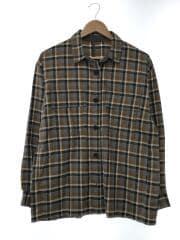 2018AW/Check Shirts Jacketネルシャツ/M/ポリエステル/ブラウン