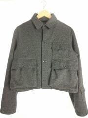 2016AW/Fisherman Shirt/長袖シャツ/38/M/ウール/グレー/無地