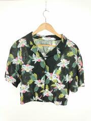 2019SS/Aloha Open Collar Shirts/半袖シャツ/one/コットン/ブラック/花柄