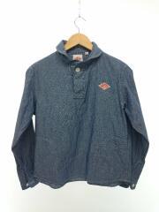 ラウンドカラーシャツ/コットンブラッシュド/JD-3408/長袖ブラウス/34/コットン/IDG/無地