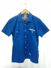 WORKSHIRTS/ワークシャツ/ブルー/半袖シャツ/3/コットン/BLU/無地