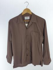 18年/タグ付/108600006/マイクロノーヴァオープンカラーシャツ/長袖シャツ/2/ポリエステル