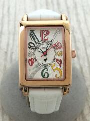 michel jurdain/ミシェルジョルダン/SL-300/クォーツ腕時計/アナログ/レザー/ホワイト