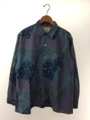 聖林公司/和柄/オープンカラーシャツ/L/コットン/インディゴ