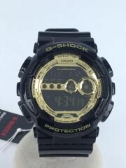 タグ付/GD-100GB-1JF/クォーツ腕時計・G-SHOCK/ジーショック/ブラック/ゴールド