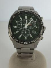 クォーツ腕時計/ATTESA/GN-4W-S/アナログ/チタン/BLK/SLV