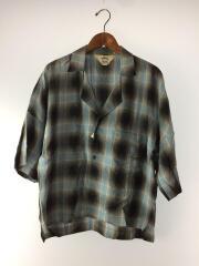 半袖シャツ/3/レーヨン/ブルー/チェック/Shadow Check Fried Shrimp Shirt19SS