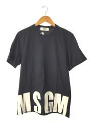 Tシャツ/S/コットン/NVY/ネイビー/ロゴ