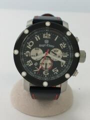 クォーツ腕時計/アナログ/BLK/BLK/ブラック/黒