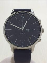 VD57-KR30/クォーツ腕時計/アナログ/レザー/NVY/NVY/文字盤ネイビー/VD57-KR3