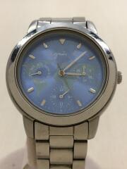クォーツ腕時計/アナログ/ステンレス/BLU/SLV/V33J-0010/