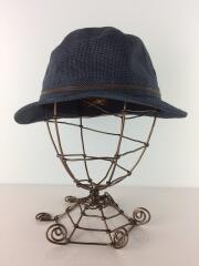 ハット/S/リネン/NVY/ギンガムCK/BS645-16S00/55cm/帽子/
