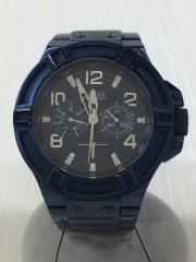 クォーツ腕時計/アナログ/ステンレス/NVY/NVY/W0218G4/文字盤ネイビー/ベルトネイビー