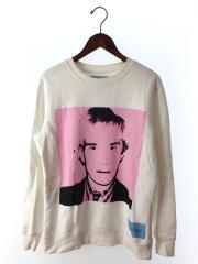 スウェット/L/コットン/WHT/無地/Calvin Klein×Andy Warhol SWEAT SHIRT/