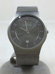 クォーツ腕時計/アナログ/--/GRY/SLV