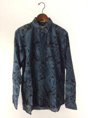 17ss/Ethnic Print shirts/長袖シャツ/S/コットン/NVY/総柄/エスニックプリント