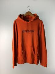 スター フード プルオーバー フーディー/パーカー/M/コットン/ORN/裏パイル地/オレンジ/