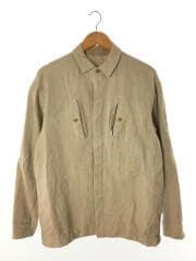 リネンウールジャケット/長袖/3/リネン/クリーム/無地/BBZ2001107A0001/フロントボタン