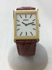 Breda/クォーツ腕時計/アナログ/レザー/8-191003/スクエア/ゴールド/