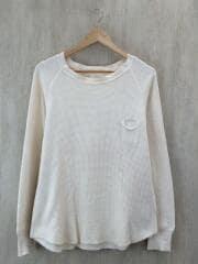 ブフト/ポケット付サーマル長袖Tシャツ/S/コットン/BEG/B-15301