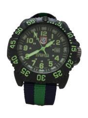 NAVY SEAL COLORMARK 3050 SERIES/クォーツ腕時計/アナログ/ブラック/グリーン