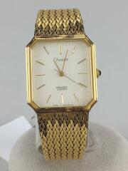 オリエント/クォーツ腕時計/アナログ/1 585406-40/ホワイト/ゴールド/Chandor
