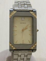 オリエントクォーツ腕時計/アナログ/ステンレス/BEG/SLV/D852S7-40CS