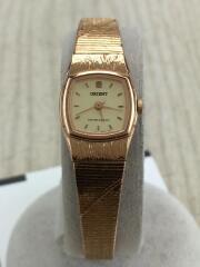 オリエント/UBLR-R0/アナログクォーツ腕時計/ステンレス/ゴールド/800464