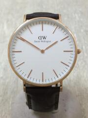 ダニエルウェリントンクォーツ腕時計/アナログ/レザー/Classic B40R1