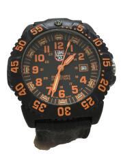 クォーツ腕時計/デジアナ/ラバー/ブラック/ブラック/3050/3950