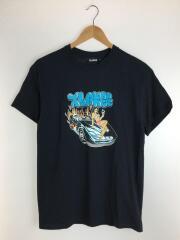 ロゴプリント/Tシャツ/M/コットン/ブラック/101202011062