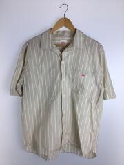 半袖シャツ/40/コットン/BEG/ストライプ/JD-3609