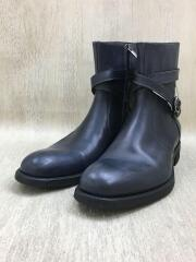 ALMAS/ブーツ/39/ネイビー/サイドジップ/Vibram/9339