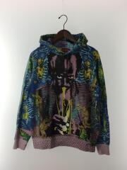 miles davis hooded sweatshirt/S/コットン/マルチカラー/総柄