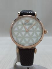 クォーツ腕時計/アナログ/レザー/AR-1990