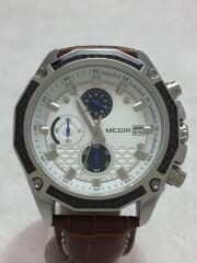 MEGIR/クォーツ腕時計/アナログ/--/ホワイト/ブラウン