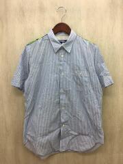 半袖シャツ/S/コットン/ブルー/総柄/WQ-B041/AD2015
