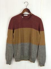 セーター(薄手)/--/ウール/マルチカラー/3色/ブラウン