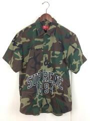 20SS/Arc Logo S/S Work Shirt/アーチロゴワークシャツ/M/コットン/KHK/カモフラ//半袖シャツ ミリタリー
