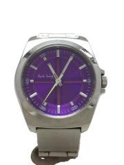 クォーツ腕時計/アナログ/ステンレス/PUP/SLV
